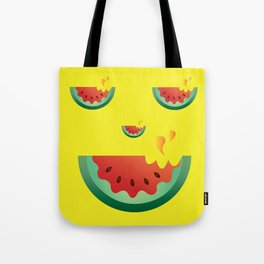 Watermelonween Face Tote Bag