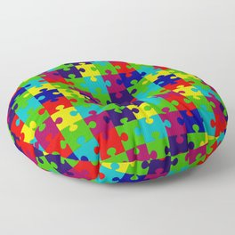 Puzzled Floor Pillow