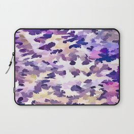 Foliage Abstract Camouflage In Pale Purple and Violet Pastels Laptop Sleeve