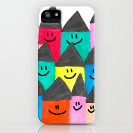 Happy faced houses iPhone Case