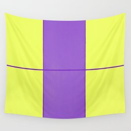 August - Purple and Yellow Wall Tapestry