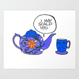 Tea Issues - Tissues Art Print