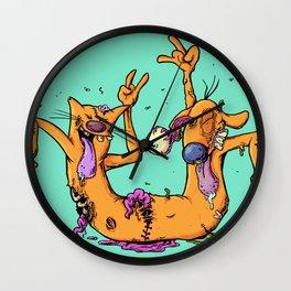 Catdog Love Metal Wall Clock