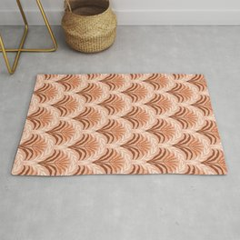 Palm leaves arch pattern - rust, terracotta, clay, desert, boho, ombre Rug