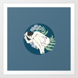 Exhausted Art Print