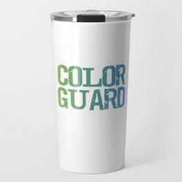 Spinning 6 Ft of Attitude Color Guard Pride T-Shirt Travel Mug