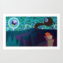 Adventure over the mountain Art Print