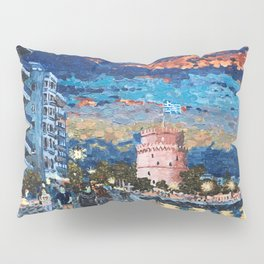 Greece: Thessaloniki In Memory Pillow Sham