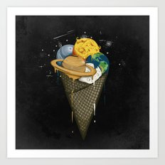 Galactic Ice Cream Art Print