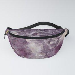 Deep Purple Quartz Crystal Fanny Pack