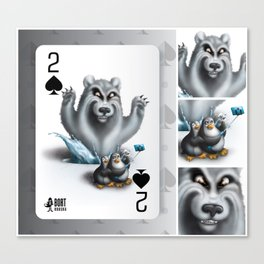 Two of Spades / No selfies! Canvas Print