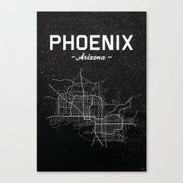 Phoenix, Arizona - b/w Canvas Print
