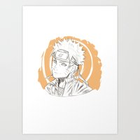 naruto Art Prints featuring Naruto by ilaBarattolo