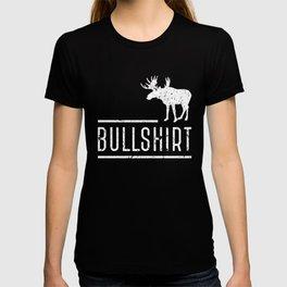 Bull Shirt Moose Silhouette Funny Puns Humor T-shirt
