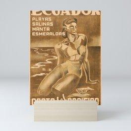 Retro Ecuador Mini Art Print
