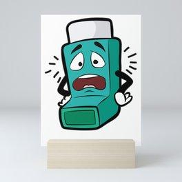 I SUCK AT BREATHING Inhaler Inhale Wheeze Sports Mini Art Print