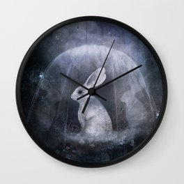 hare of the moon Wall Clock