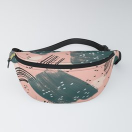Green brushes in bright pink Fanny Pack