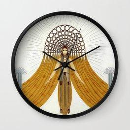 "Art Deco Oriental Design ""Café Foujita"" Wall Clock"