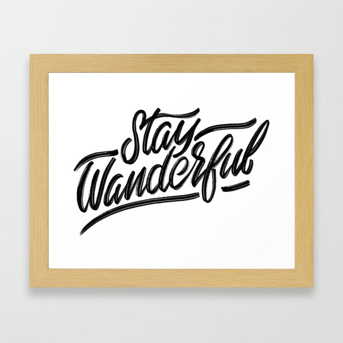 Stay Wanderful Framed Art Print