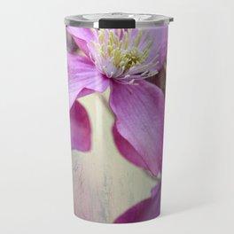 purple clematis  Travel Mug
