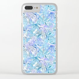 Blue and cornflower leaves. Clear iPhone Case