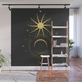 Eclipse. Sacred geometry. Wall Mural