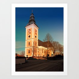The village church of Sankt Peter am Wimberg III | architectural photography Art Print