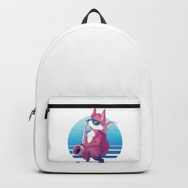 Fox Playing Saxophone, Gift for Friend, Animal Lover, Birthday Gift, Cute Fox Gift, Red Fox, Jazz Backpack