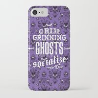 haunted mansion iPhone & iPod Cases featuring Haunted Mansion - Grim Grinning Ghosts by tonysimonetta