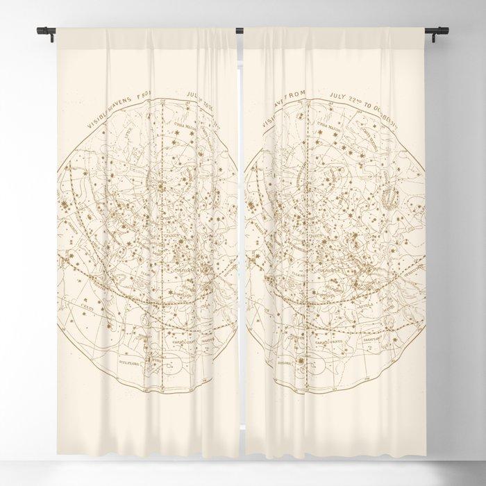 Visible Heavens - Gold Blackout Curtain