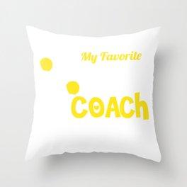 High School Cheerleading Team Coach  Throw Pillow