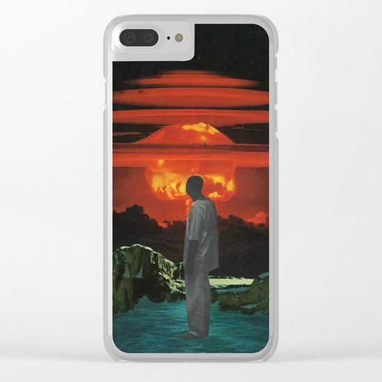The World Was Beautiful On Fire Clear iPhone Case