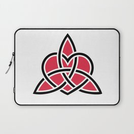 Triquetra Knot With Heart Symbol Laptop Sleeve