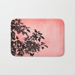 Leaves Silhouette - Peach Bath Mat