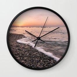 Last rays of light at sunset Wall Clock