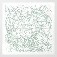 Green Planet Art Print