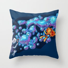 Creating the universe is fun! Throw Pillow