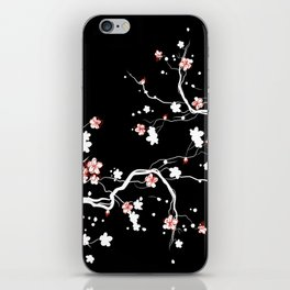 Black Cherry Blossom iPhone Skin