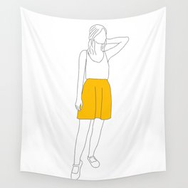 Girl with the Yellow Skirt Wall Tapestry