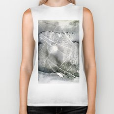 sun in forest - monoprint Biker Tank