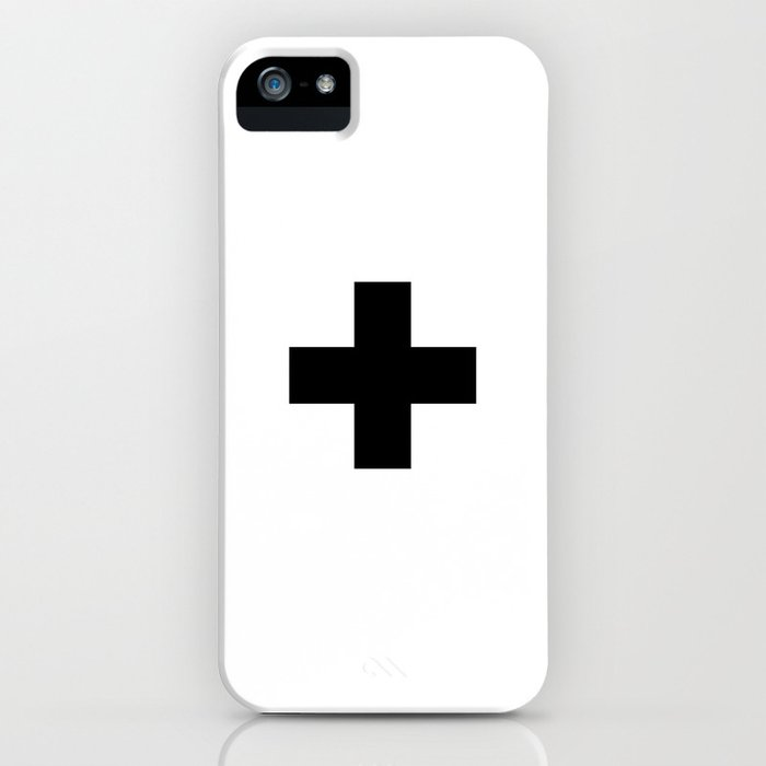 Swiss Cross white and black Swiss Design for minimalist home room wall art decor for apartment iPhone Case