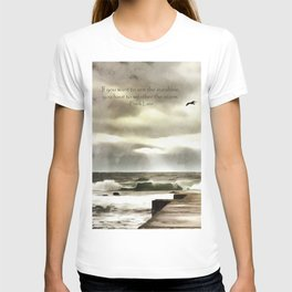 The girl in the storm, Cascais (Portugal) T-shirt