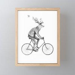 Even a Gentleman Rides Framed Mini Art Print