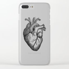 Real Anatomical Human Heart Drawing Clear iPhone Case