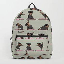 Rottweiler Yoga Backpack