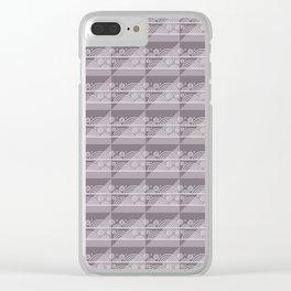 Modern Simple Geometric 3 in Aubergine Clear iPhone Case