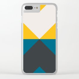 Split X Teal & Yellow Clear iPhone Case
