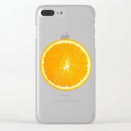 LOVE TANGERINE Clear iPhone Case