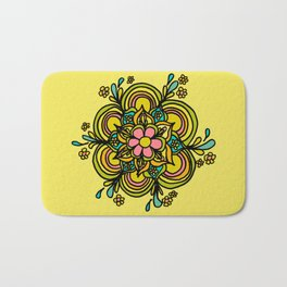 Flower Power Mandala Positive Vibes Flow Freely Bath Mat